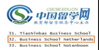 国外学位班 BSN工商管理硕士 荷兰商学院MBA班 荷兰商学院学位班