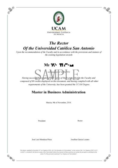 西班牙武康大学硕士学位 武康大学硕士项目 国外学位班 西班牙MBA学位