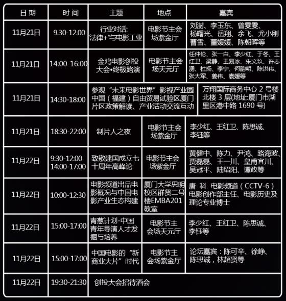 北京电影学院影视金融班:11月课程,共聚金鸡百花电影节·厦门
