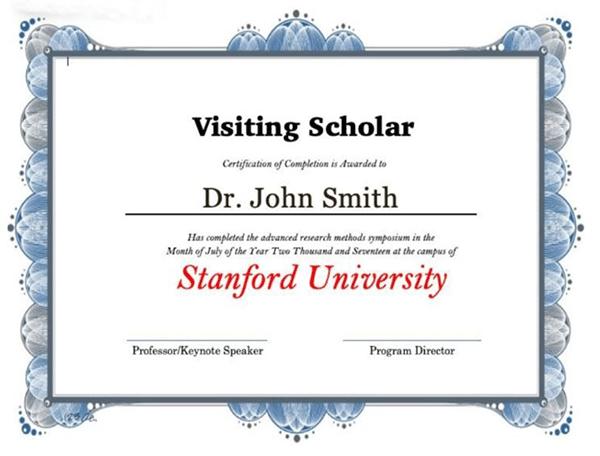斯坦福大学博士后 斯坦福大学博士后项目 斯坦福大学访问学者项目